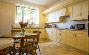 Bossington Hall - Shaker style units in the secondary kitchen